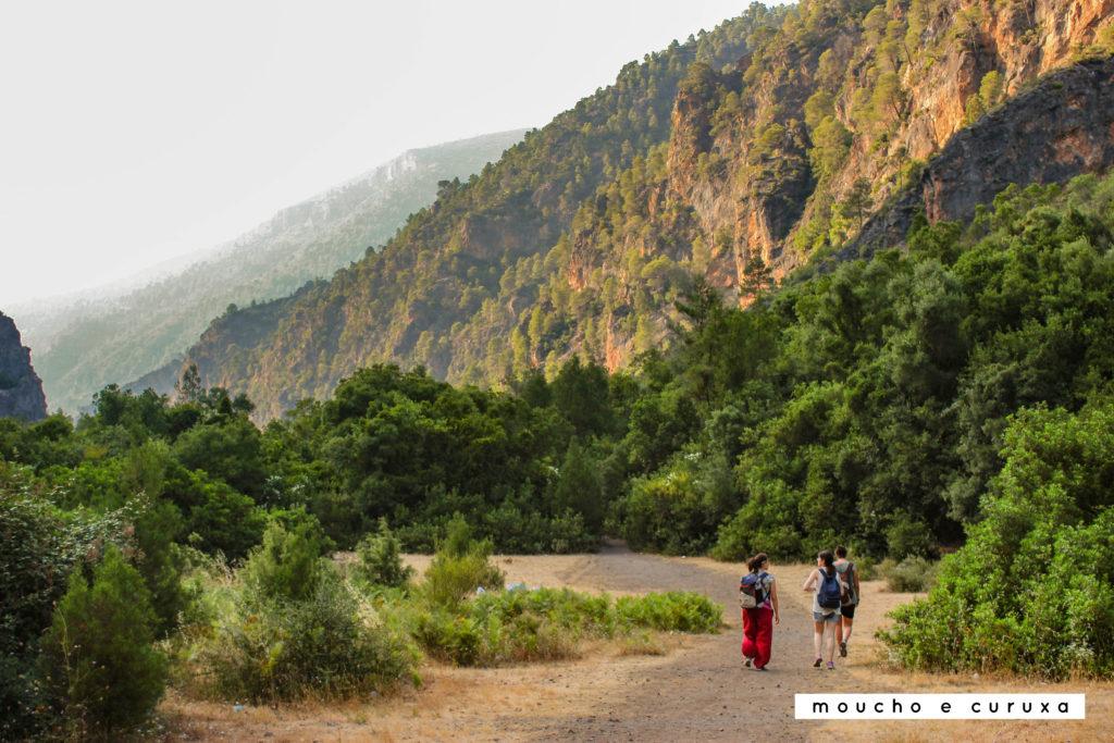 Vuelta de cascada Akchour