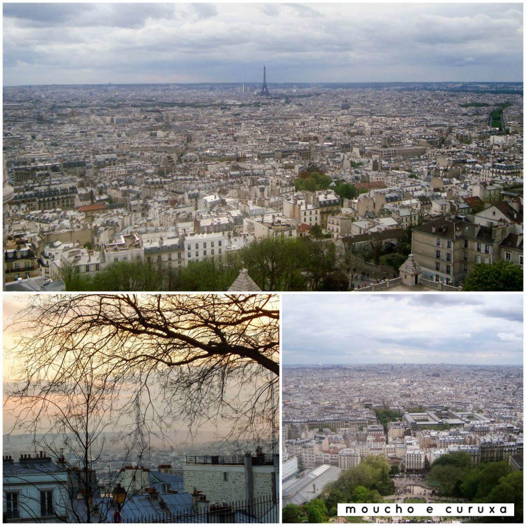 Vistas desde Montmartre y cúpula de Sacre Coeur