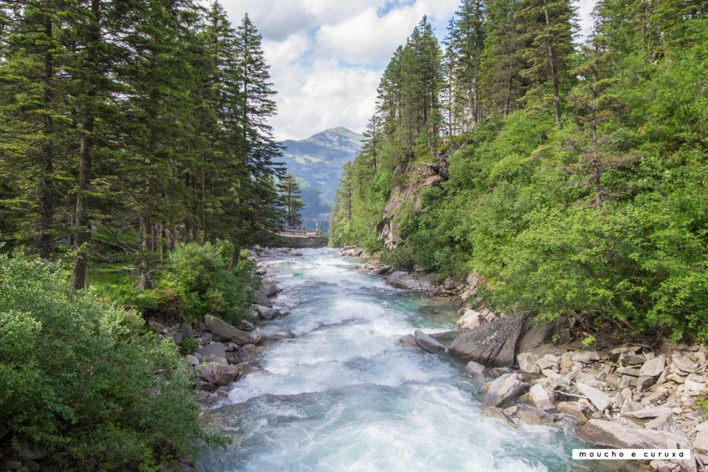 Cataratas Krimml - El río justo antes de la caída