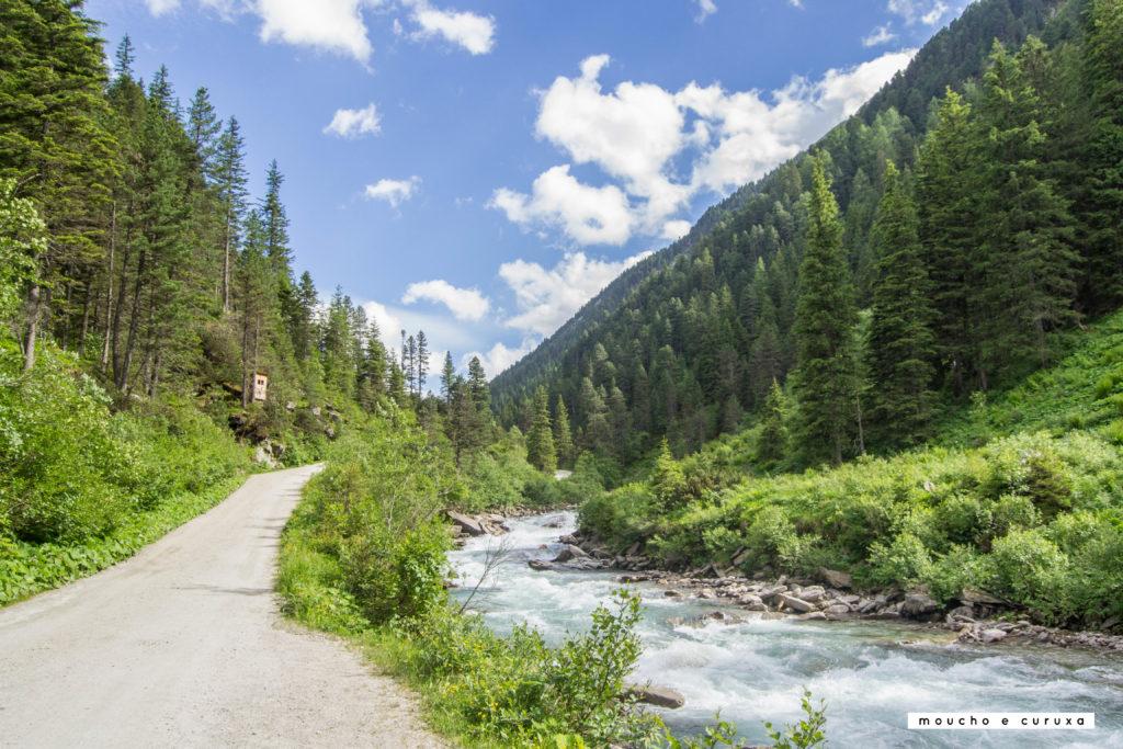 Cataratas Krimml - El río, aguas arriba