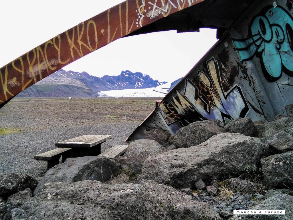 Área de descanso en Islandia - ring road.
